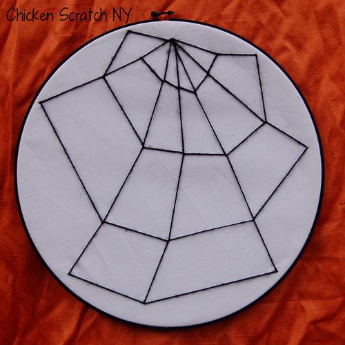 Embroidery Hoop Spiderwebs