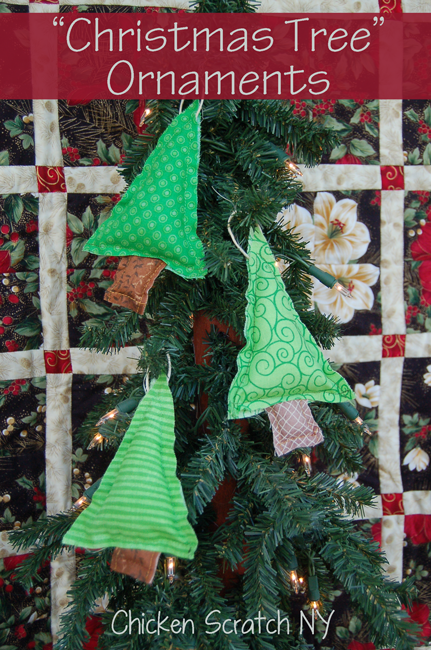 Fabric Christmas Tree Ornaments