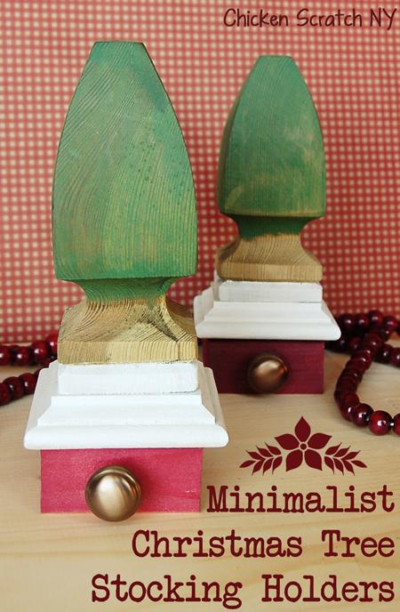 Minimalist Christmas Tree Stocking Holders