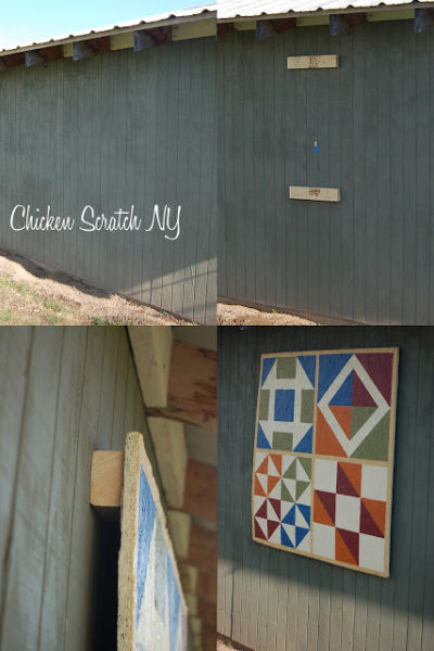 picture collage on how to hang a plywood barn quilt