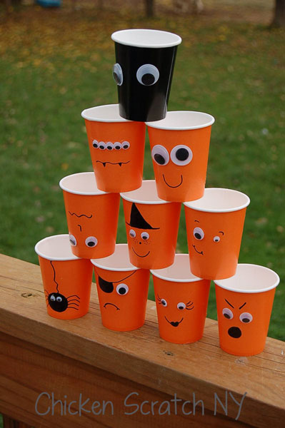 Halloween Cups – A Quick DIY