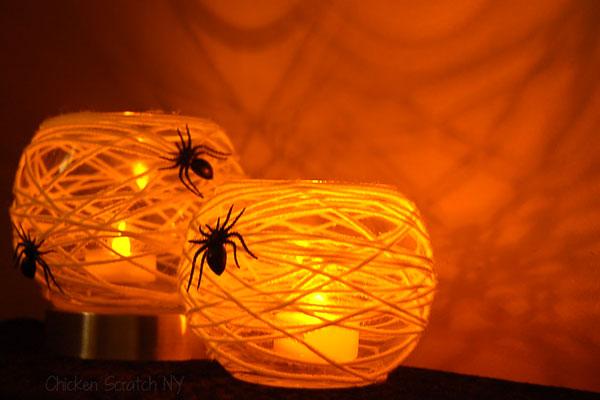 Spiderweb Halloween Candle Holder