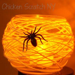 Halloween Spiderweb Candle Holders