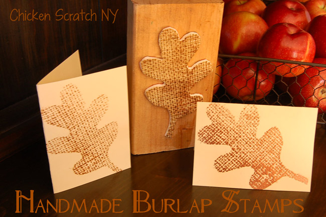 Homemade Burlap Stamp