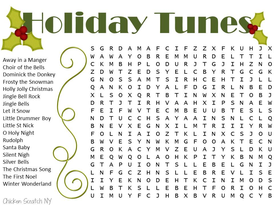 Free Printable Christmas Word Searches