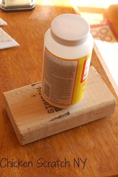 Handmade Burlap Stamp Step 3