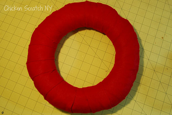 Felt Wrapped Straw Wreath Base