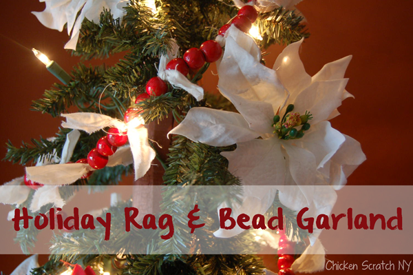 scrappy christmas garland - Christmas Beaded Garland Decorations