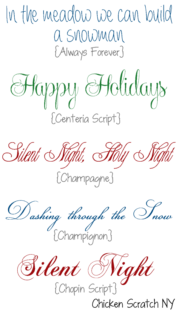 Favorite Holiday Fonts