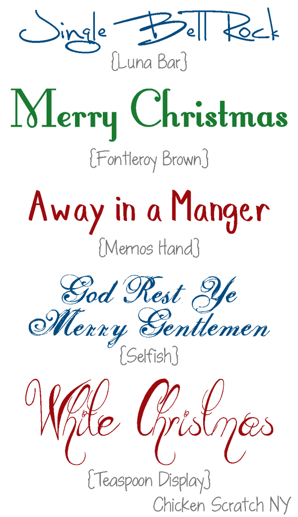 Holiday Font Roundup