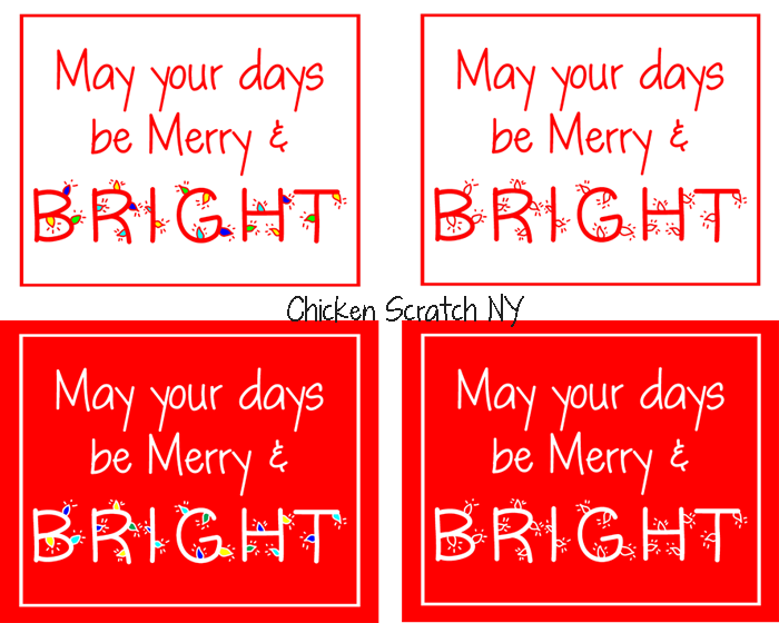 Merry & Bright Red Christmas Printable