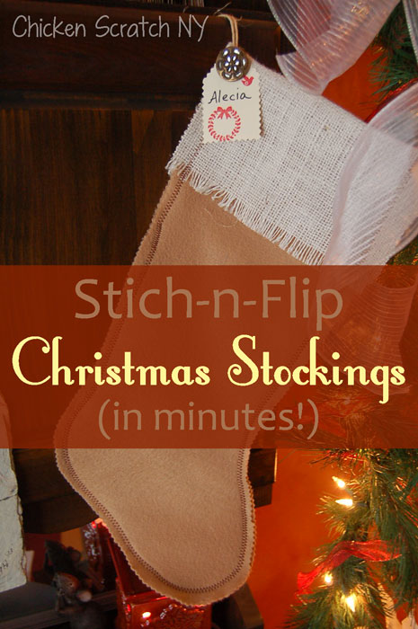 Really quick Christmas stockings