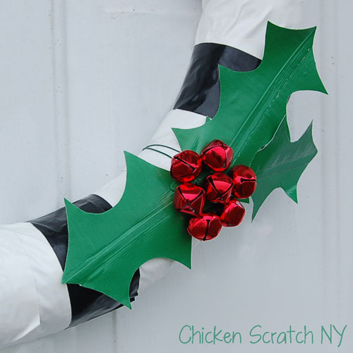 DIY Duck Tape Christmas Wreath