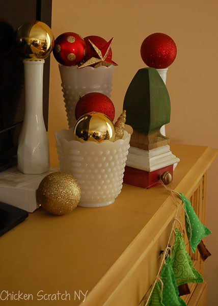 Re-purpose Christmas decorations