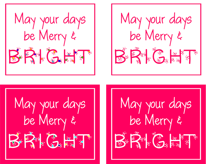 Merry & Bright Printable