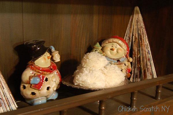 Christmas hutch display