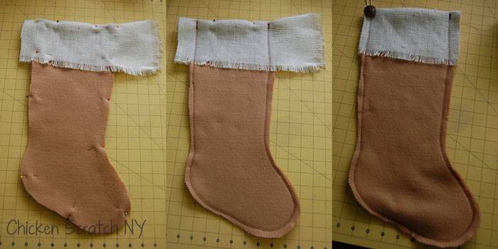 last minute Christmas stocking DIY