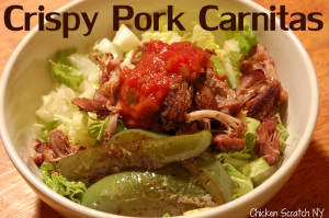 Crispy Pork Carnitas Salad