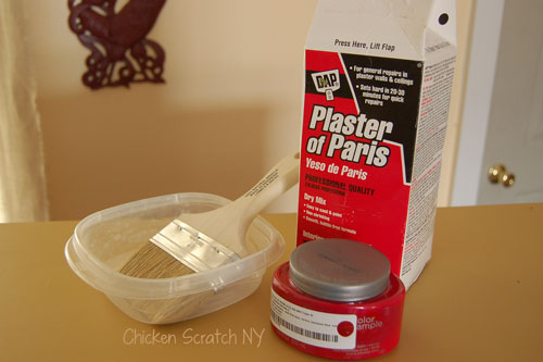 plaster of paris and paint