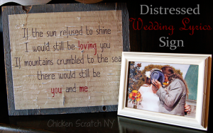 Distressed Wedding Song Sign