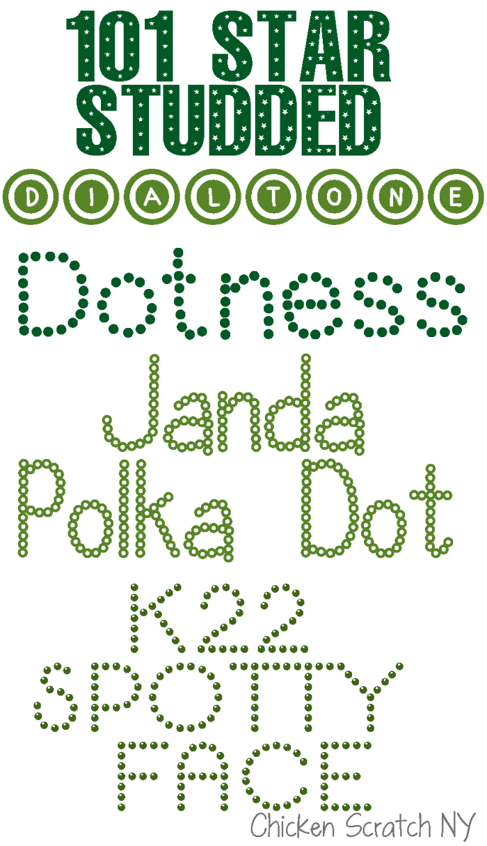 Fonts on the First – Polka Dot Fonts