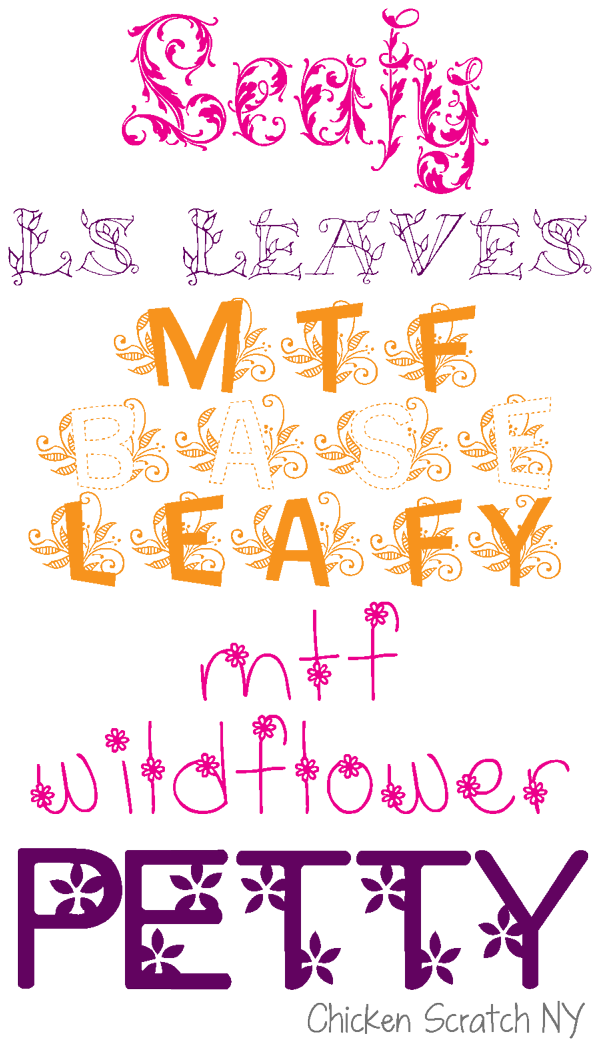 Spring Flower Fonts