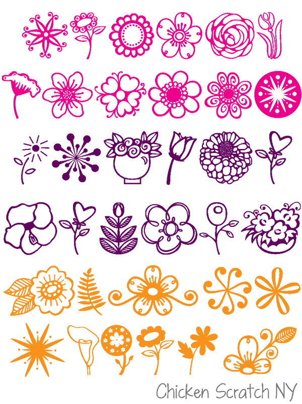 Flowery Fonts