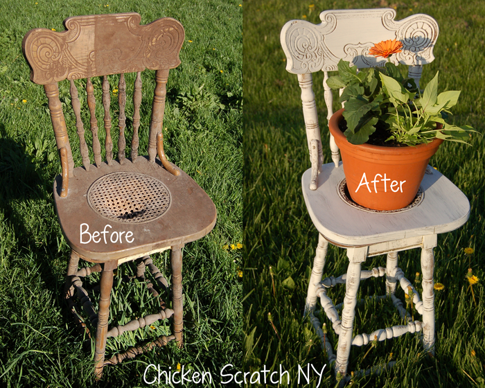 Flower Pot Chair Upcyle