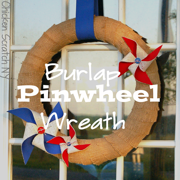 4th of July Wreath #Burlap #DIY
