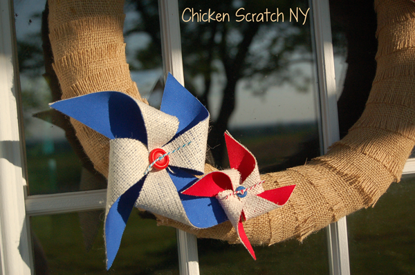 Burlap and Cotton Pinwheels