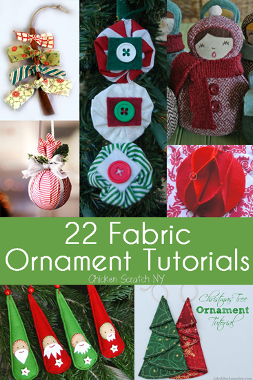 22 fabric christmas ornament tutorials to customize your christmas tree this year fabric - Christmas Bulb Decorations