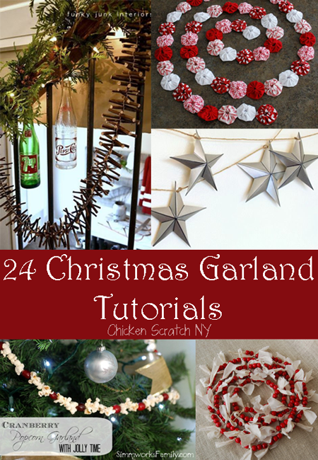 24 holiday garland tutorials to get your house fabulous for the holidays christmas - How To Decorate A Christmas Garland