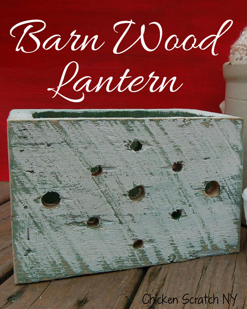 Barn Wood Luminary