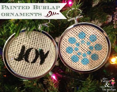 Burlap Ornaments Title