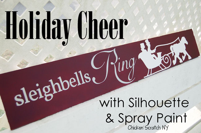 Sleighbells Ring Holiday Sign #Silhouette