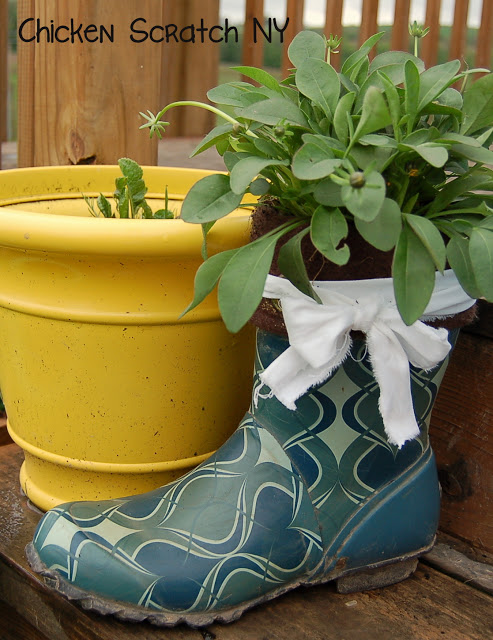 Rubber Boot Planter
