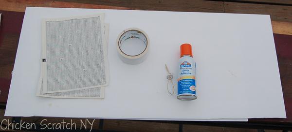Spray Glue, foam core and paper