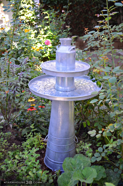 DIY Galvanized Pedestal Fountain