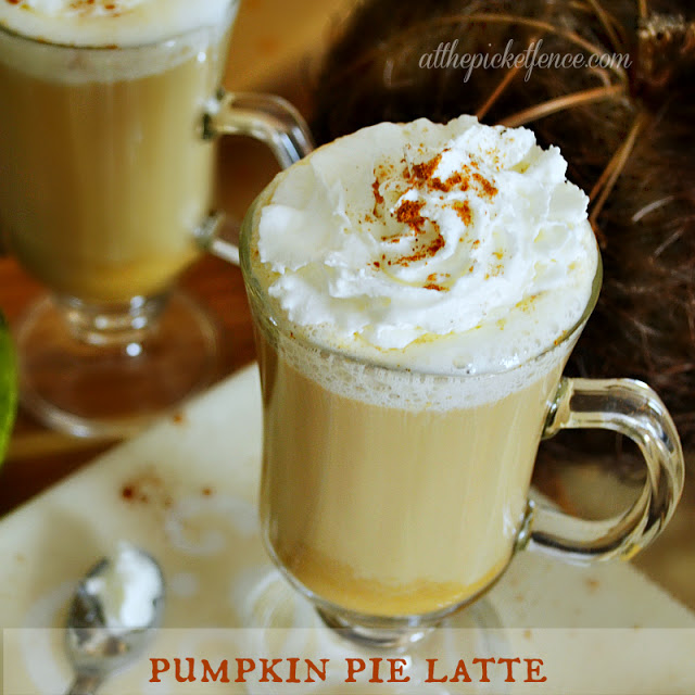 pumpkin pie latte square