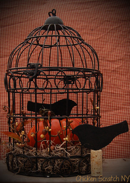 #Autumn Birdcage Vignette #DIY