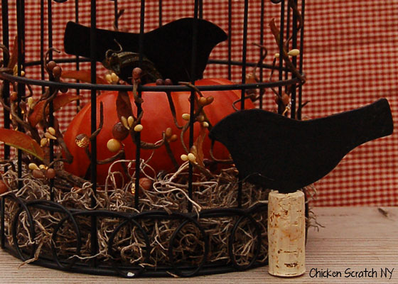 #Fall Birdcage Vignette Close Up