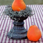 Chalk Painted Pears - Dollar Store #Crafting
