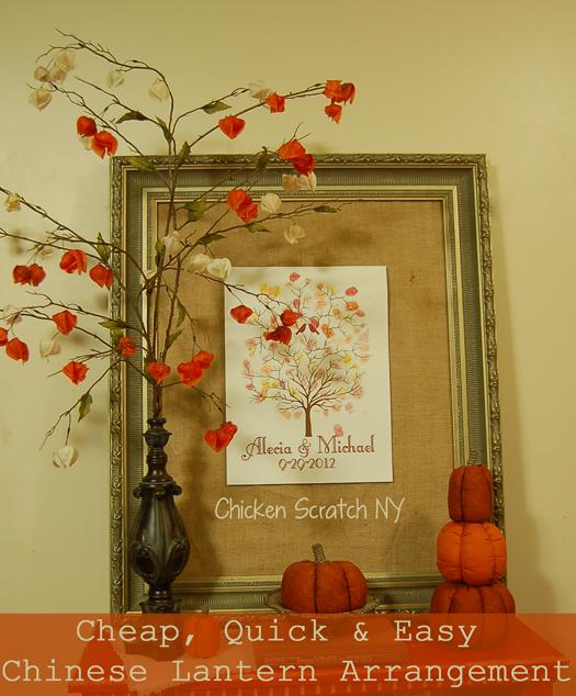 Cheap, Quick and Easy #Autumn Arrangement