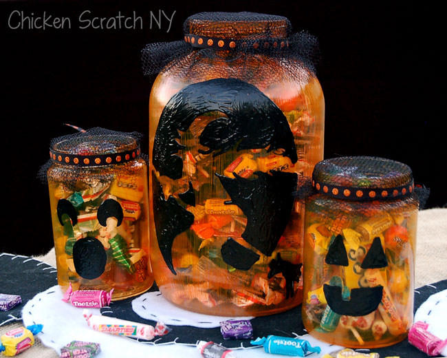 #DecoArt Pumpkin Candy Jars