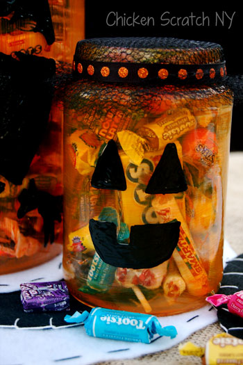 Smiley #Pumpkin Candy Jar