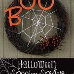 Spooky Spider Halloween Wreath Tutorial