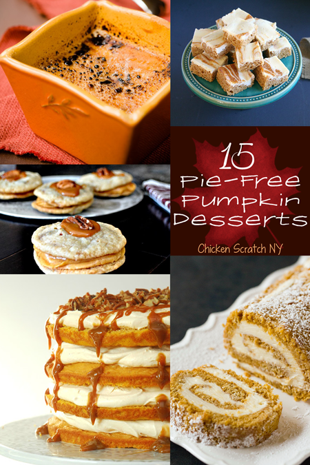 15 #Pumpkin Desserts - Hold the Pie Please!