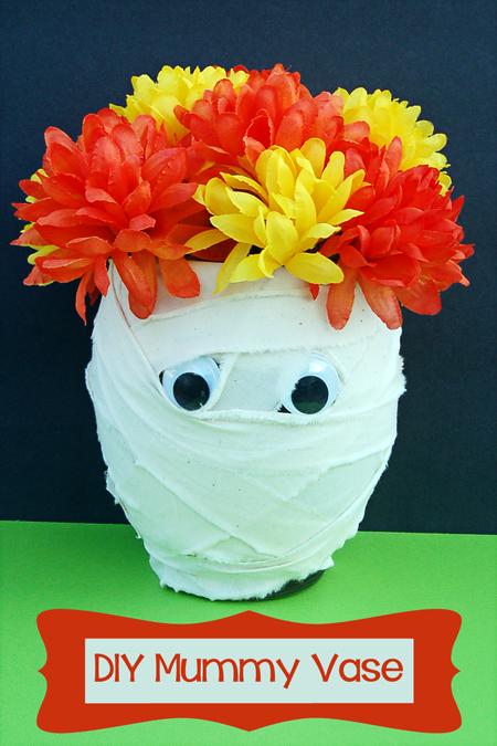 DIY Mummy Vase - Last Minute Dollar Store Crafting