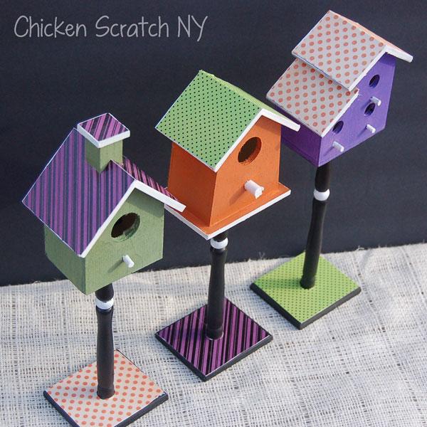 Crafty Halloween Bird Houses