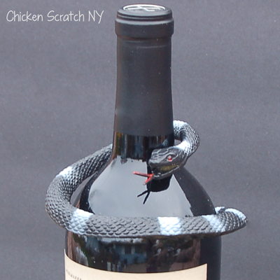 Halloween Wine Bottle Decoration Close Up